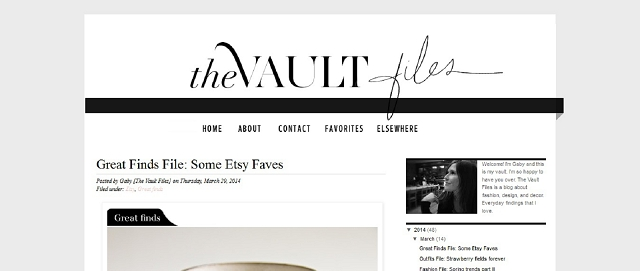 the vault files blog screen shot interior design resource