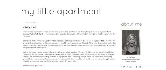 my little apartment decorating blog screen shot