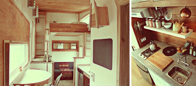 Superb Leaf House Cold Weather Portable Home On A Trailer