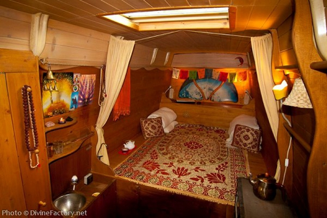 Work Van Turned Into Earth Ship Portable Home