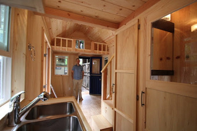 adorable solar powered trailer cabin with fold out deck