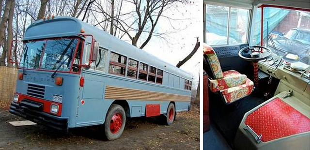 bluebird school bus home on wheels