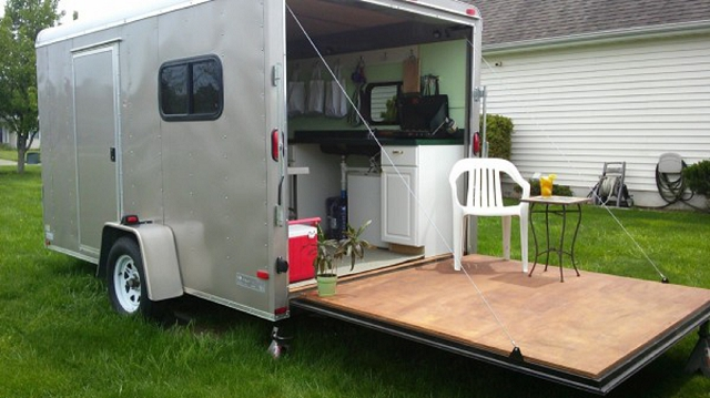 cozy cargo trailer off grid portable home