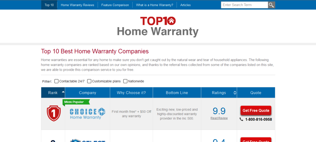 Choice Home Warranty Recognized As The 1 Home Warranty Company Choice Home Warranty