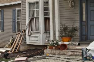 Home damage from natural disaster