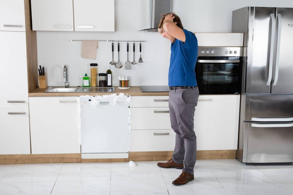 Man worries about broken dishwasher