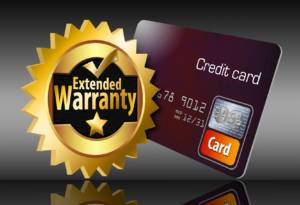 Credit cards sometimes offer extended warranties on purchases