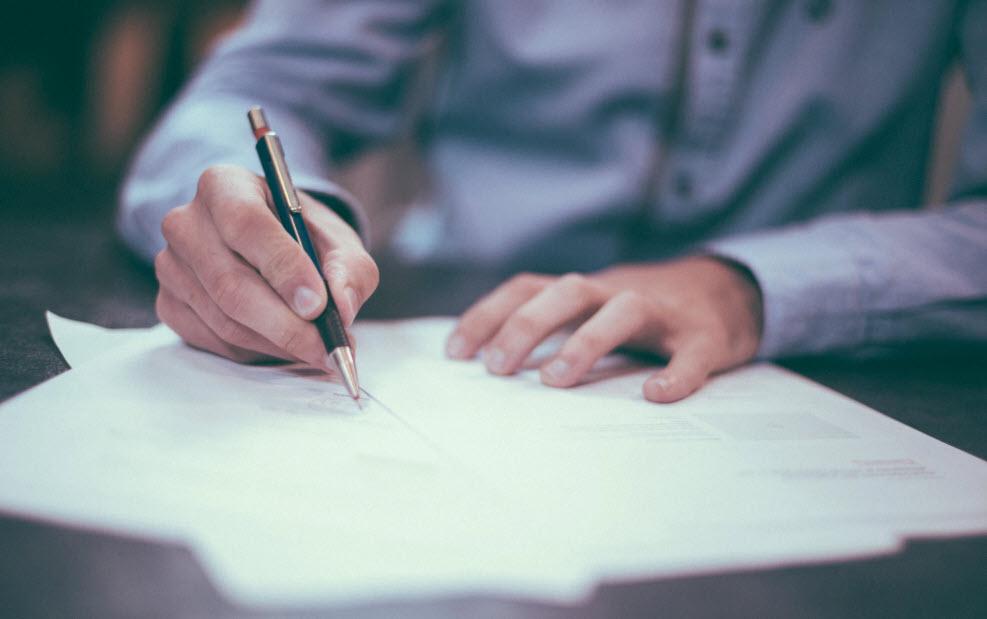 signing forms at closing