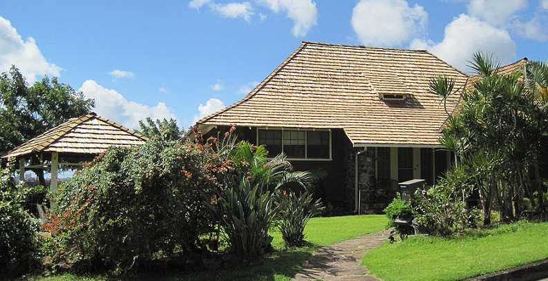 Hawaiian home front lawn
