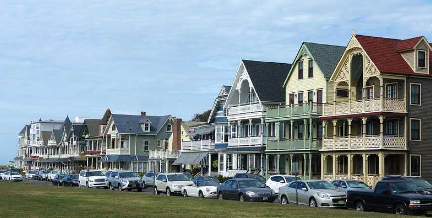 new jersey houses along street