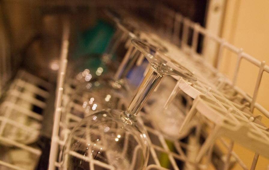 inside clean dishwasher