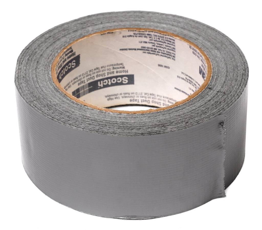 A roll of foil duct tape recommended for sealing ductwork